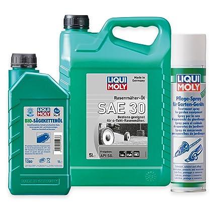 Liqui Moly Cortacésped aceite SAE 30 1266 5L + BIO Sierra kettenöl ...