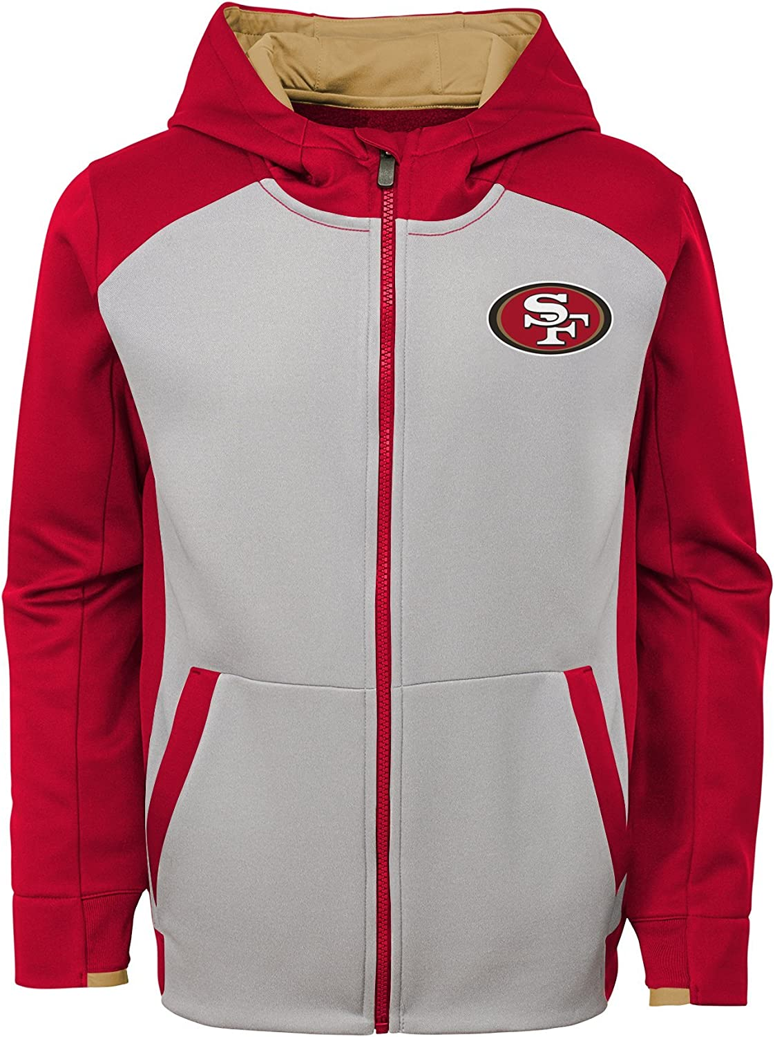 4-6 Team Color NFL San Francisco 49ers 4-7 Outerstuff Man In Motion Pullover Hoodie Kids Small