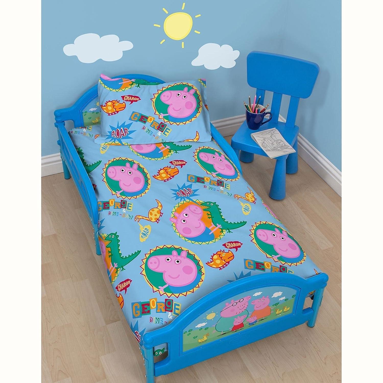 Peppa Pig Bedroom Decor Character World Peppa George Junior Bed Bundle Multi Colour