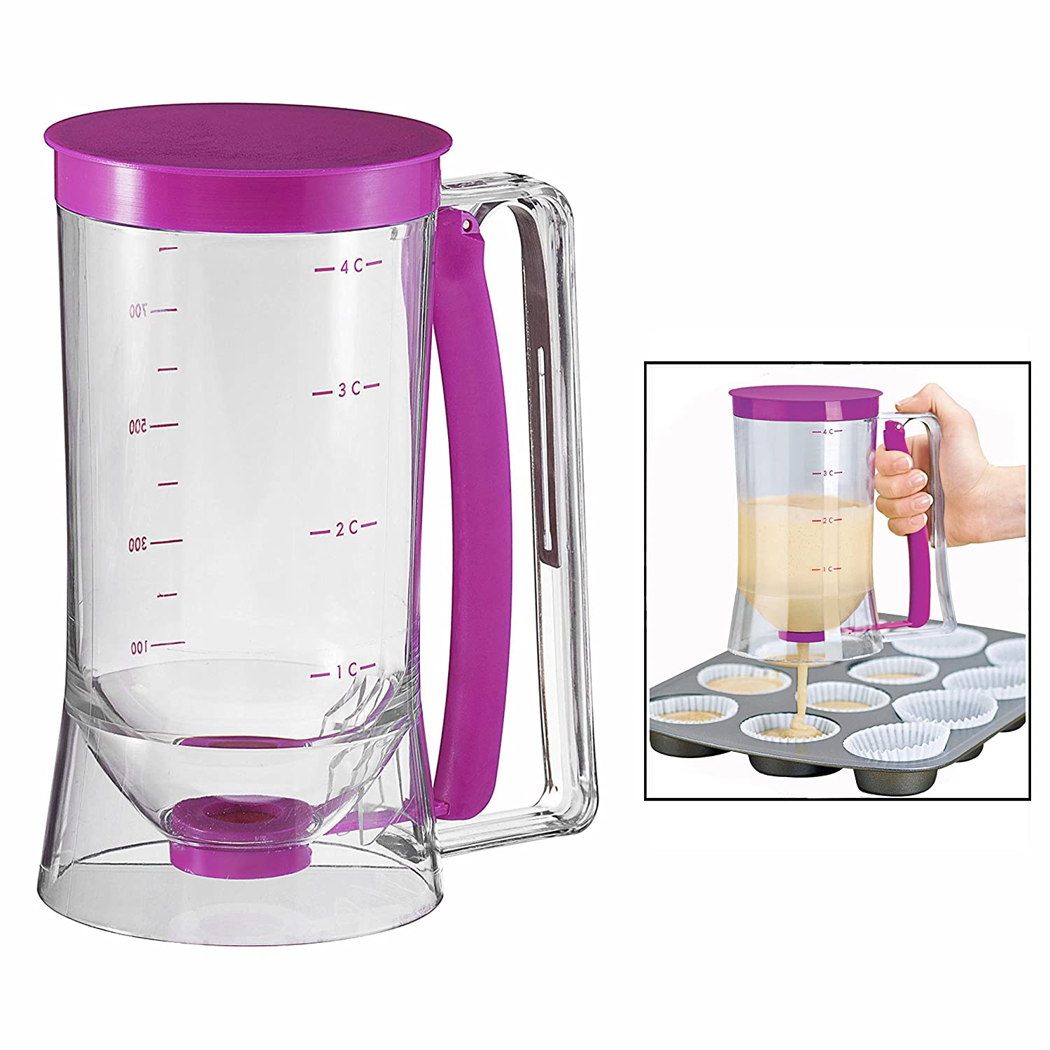 OFKP® Cake Batter Dispenser for baking 4 cup capacity 900 ML