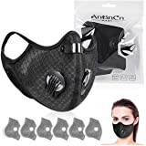 Filters Reusable Anti Dust Unisex Mouth Face Filter Replacement Breathable Earloop Anti Smoke Pollution Pollen for Cycling, R