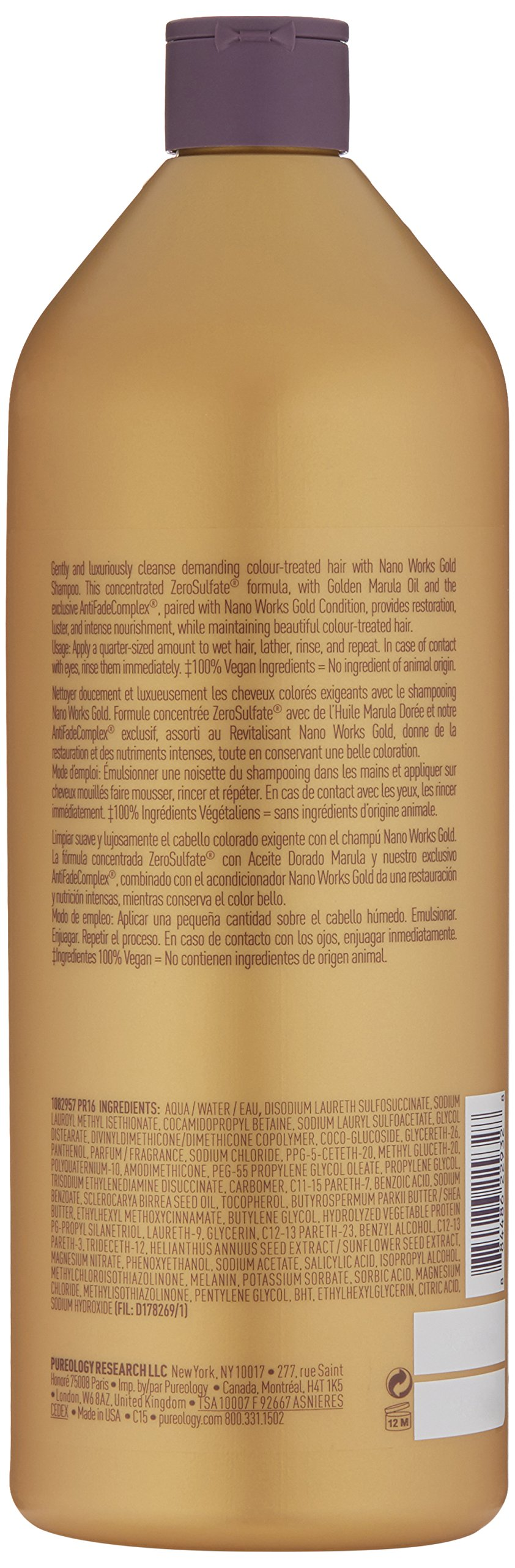 Pureology Nano Works Gold Shampoo ,33.8 Fl Oz by Pureology (Image #2)