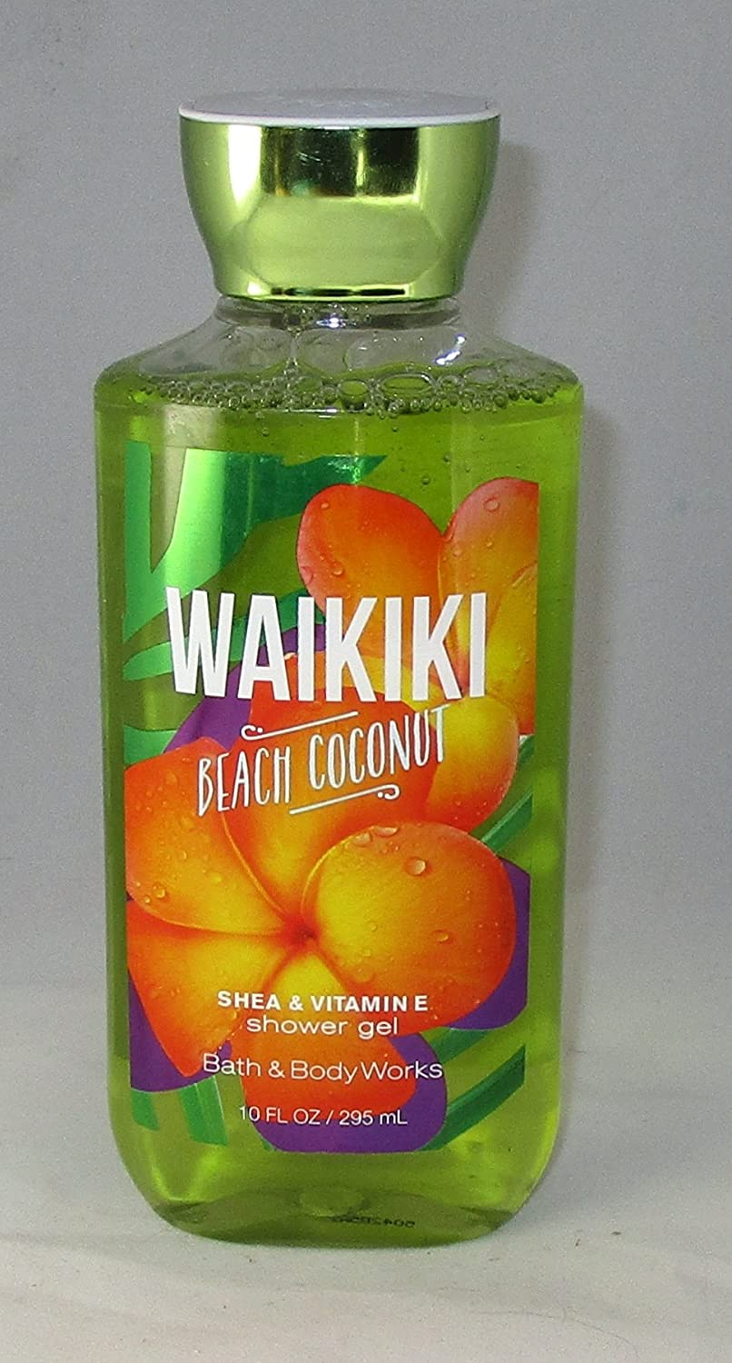 Bath Body Works Shower Gel Waikiki Beach Coconut 3 Pack