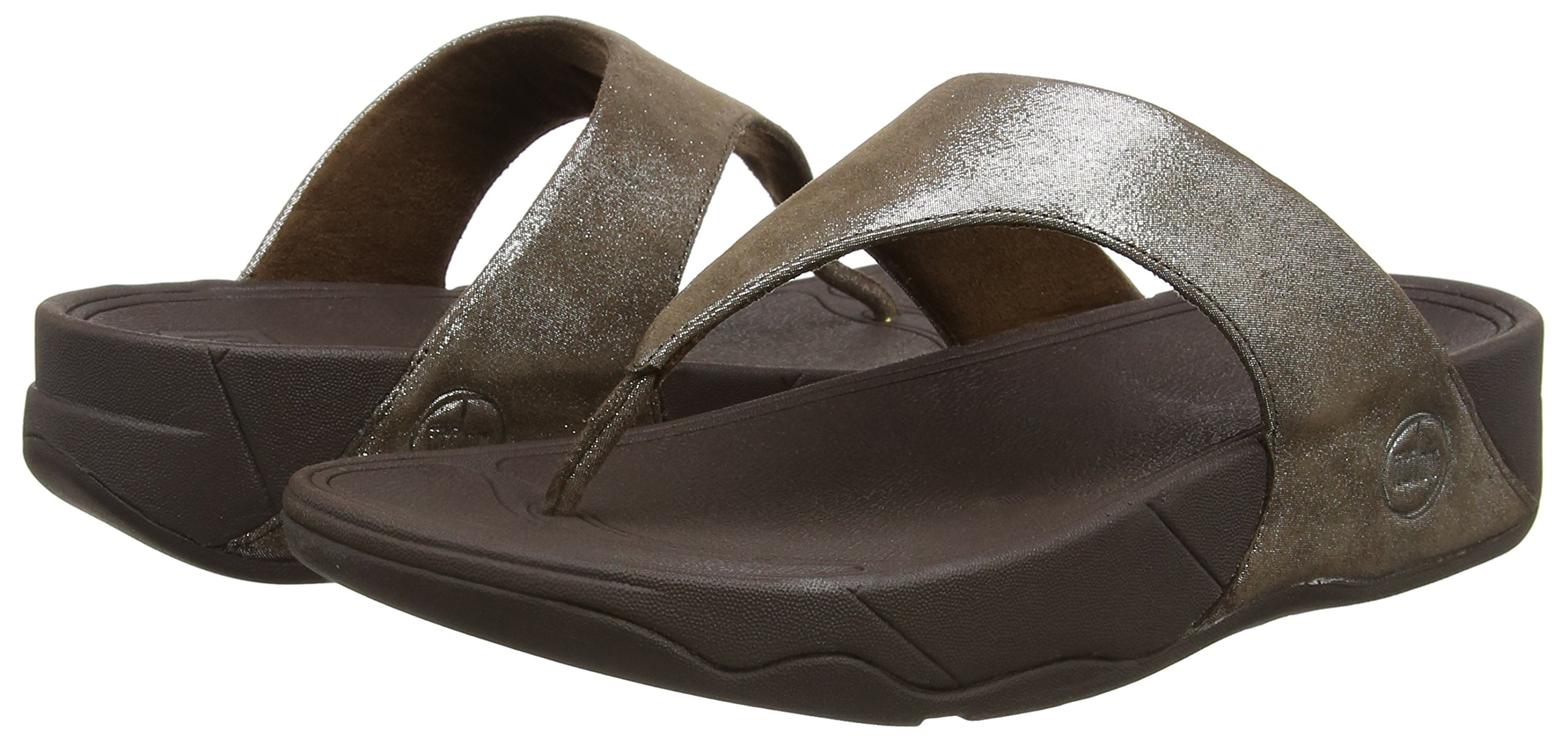 FitFlop Women's Lulu Shimmersuede Flip Flop, Bronze, 9 M US by FitFlop (Image #6)