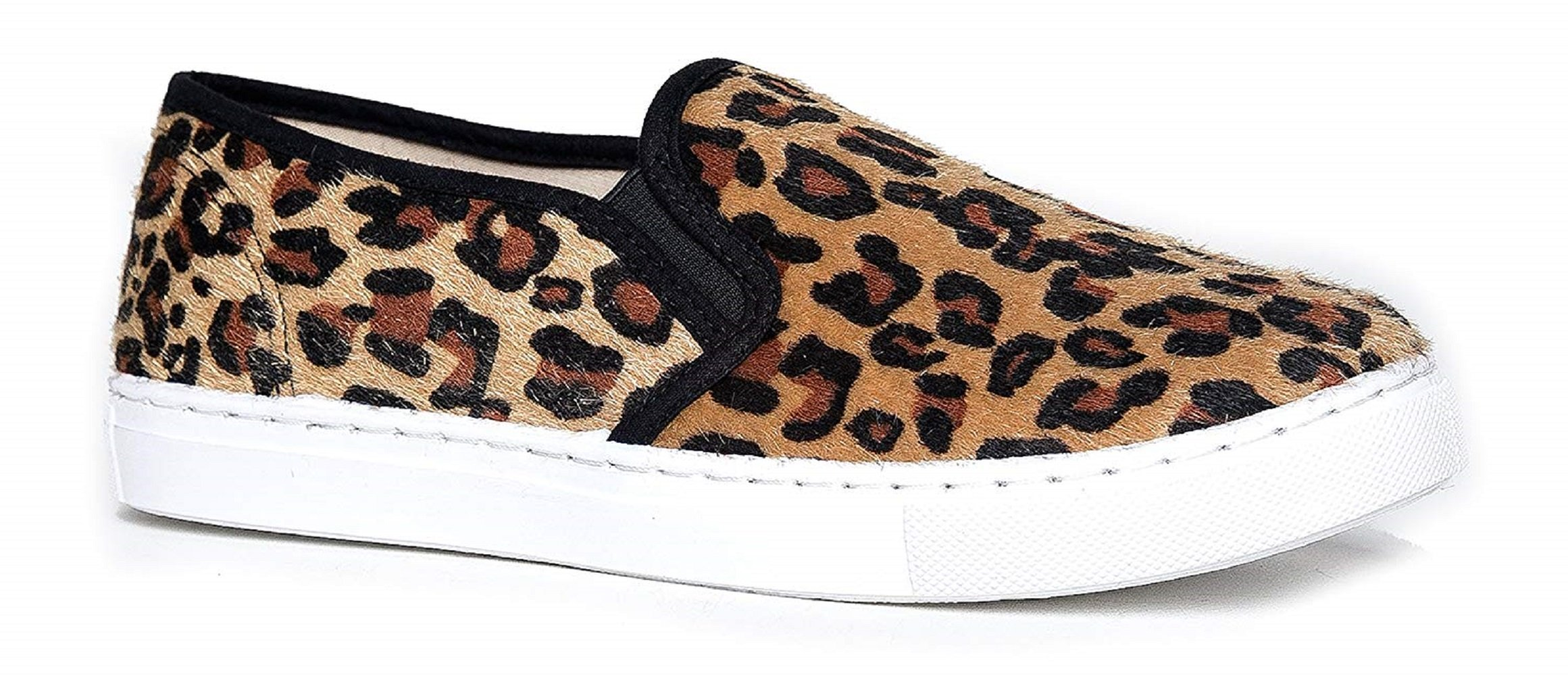 Women's Slip On Quilted Fashion Sneakers Slick Ligh Weight Comfort Casual Sport Athletic Shoes Leopard 9