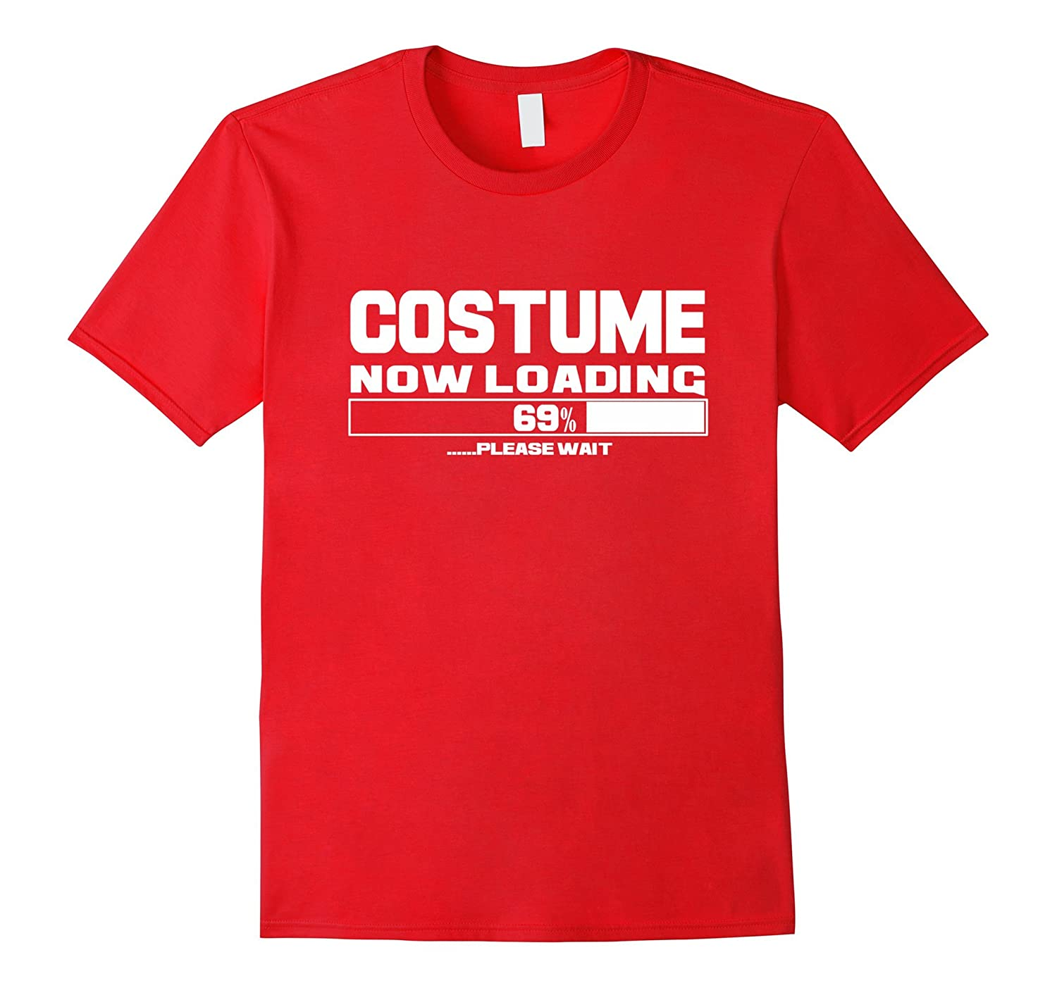 Costume Now Loading T-Shirt Funny Humor Halloween Top Tee-FL