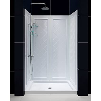 kit bath door stalls base clear reversible depot home ove b the hardware decors wall n breeze compressed walls kits chrome white with glass showers and shower