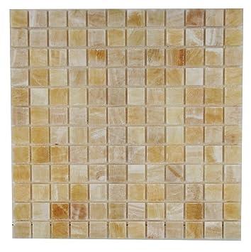 Merveilleux 1x1 Honey Onyx Polished Mosaic Tiles Meshed On 12x12   Marble Tiles    Amazon.com