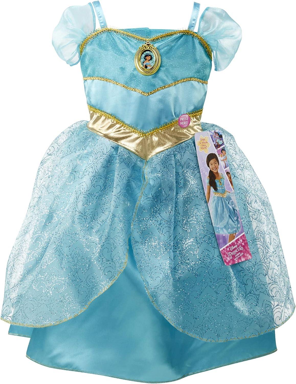 Amazon Com Disney Princess Jasmine Dress Costume Sing Shimmer