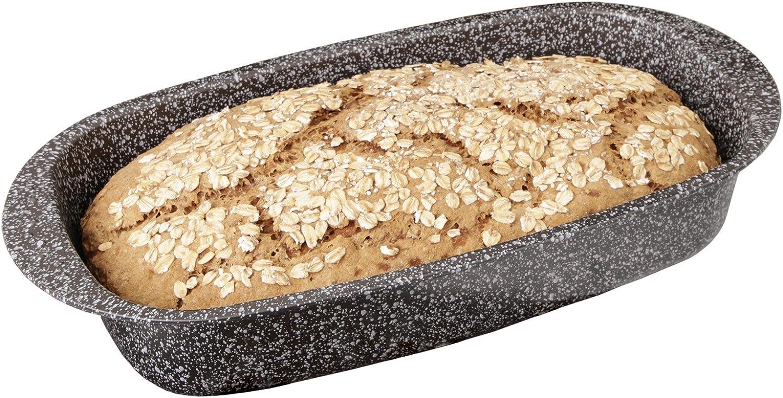 CHG Pan Molde Granito, Revestimiento Antiadherente Skandia Xtreme Plus: de 4Capas en Granito, Gris, 37x 20x 7cm