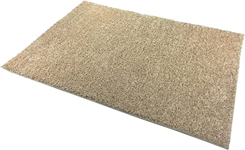 Shaggy Collection Solid Color Shag Area Rugs Beige Champagne