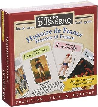 Editions Dusserre DUF01 Juego 7 Familias Historia de Francia – Juego histórico: Amazon.es: Juguetes y juegos