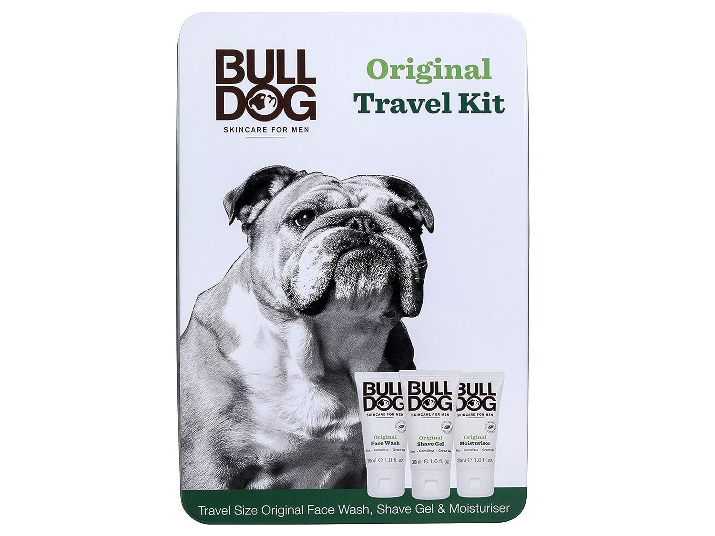 Bulldog, Set da viaggio per Uomo, incl. detergente viso, gel da barba e crema idratante Bulldog Skincare For Men LWT1037