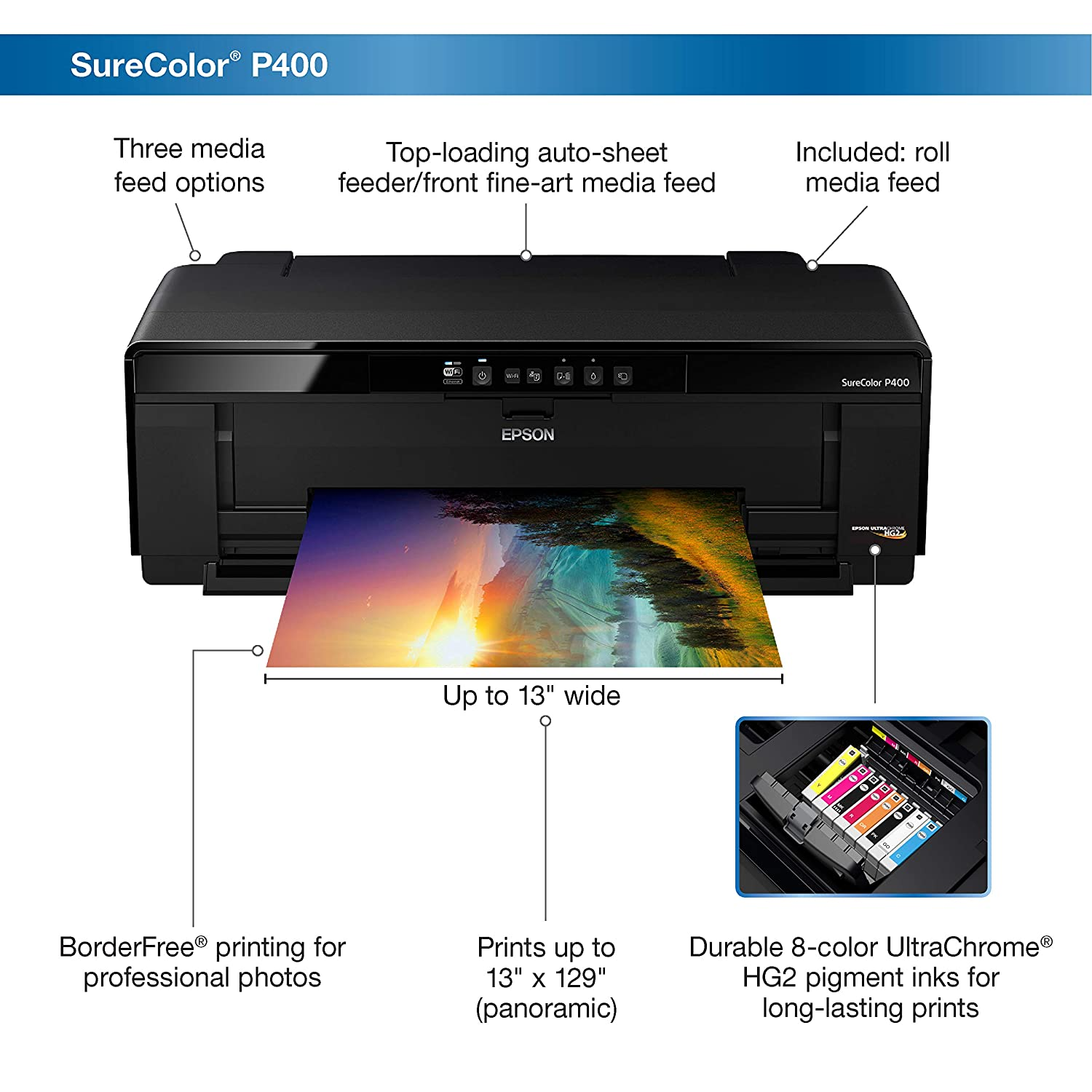 Epson SureColor P400 Wireless Color Photo Printer
