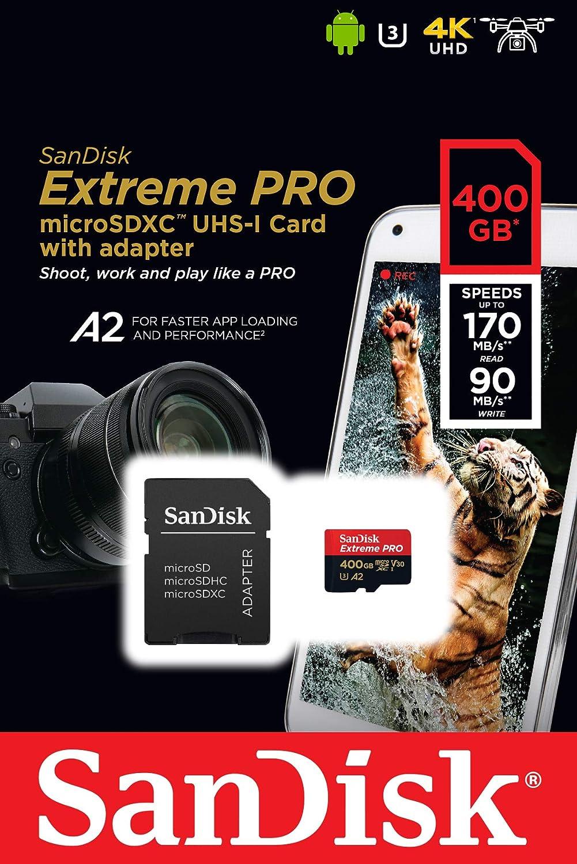 32 Go Carte microSD Extreme avec Adaptateur SD SANDISK Id/éal pour les Cam/éras dAction /& Drones Design Durable Incl Logiciel de R/écup/ération Facile Des Fichiers RescuePRO Deluxe