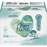 Baby Wipes, Pampers Aqua Pure 6X Pop-Top Sensitive Water Baby Wipes, Hypoallergenic and Unscented, 336 Count (Packaging May V