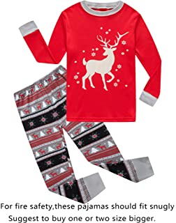 Family Feeling Christmas Bear Little Boys Girls Child Pajamas Sets 100% Cotton  Toddler PJS 6d5640886