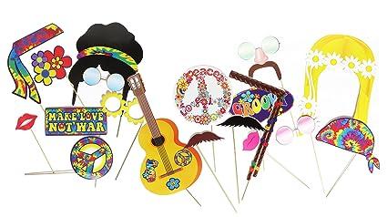 Hippie Decoracion Fiesta Foto Booth Props Por Express Novelties - Decoracion-hippie-fiesta