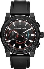 Michael Kors MKT4010 Access Grayson - Smartwatch Híbrido para Hombre, Caja de Acero Inoxidable y Correa de Silicona, Negro