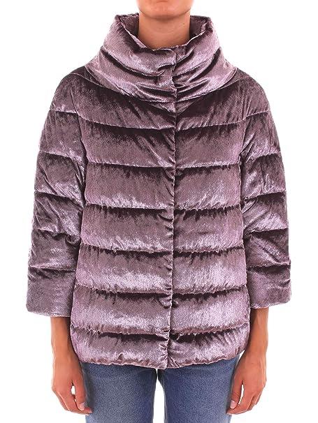 best cheap a13b6 6e43a Herno Piumino Cappa Donna Velluto Lurex Rosa: Amazon.it ...