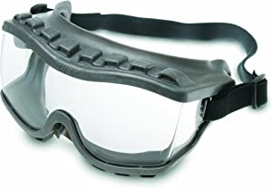 Uvex S3815 Strategy Safety Goggles, Gray Body, Clear Uvextra Anti-Fog Lens, Indirect Vent With Foam, Fabric Headband