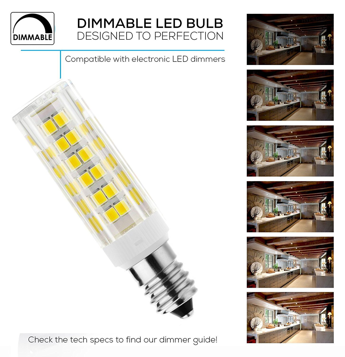 JD E11 120V 6W Dimmable LED Light Bulb 50W 75W Halogen Bulbs