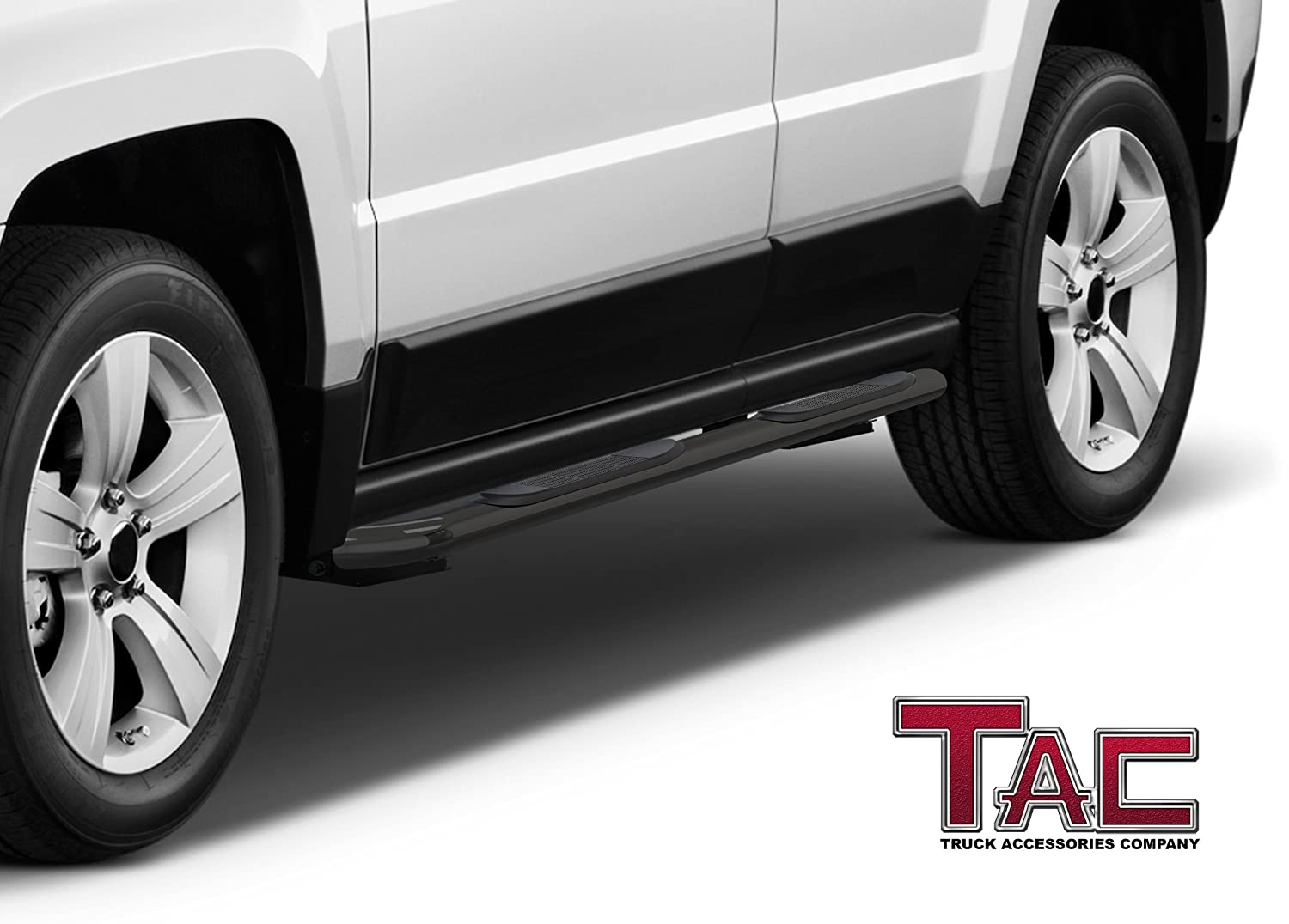2 Pieces Running Boards TAC Side Steps Custom Fit 2007-2016 Jeep Patriot 3 inches Black Side Bars Nerf Bars Step Rails Running Boards Off Road Automotive Exterior Accessories
