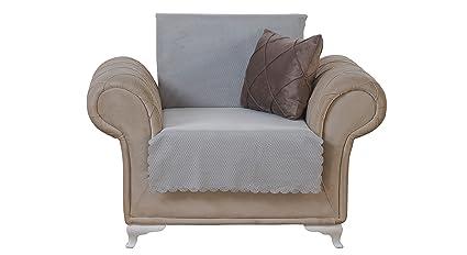 Amazoncom Chiara Rose Diamond Chair Slipcover 3 Cushion Sofa Cover