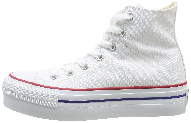 Amazon.com | Converse Chuck Taylor All Star Platform Core HI White 1133W170091 (540170C) (Size: US Women 6.5 / UK 4.5 / EUR 37/23.5CM;) | Shoes