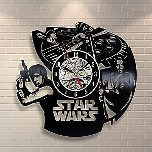 Star Wars Han Solo OBI Wan Kenobi Vinyl Record Clock Home Decor Room Art