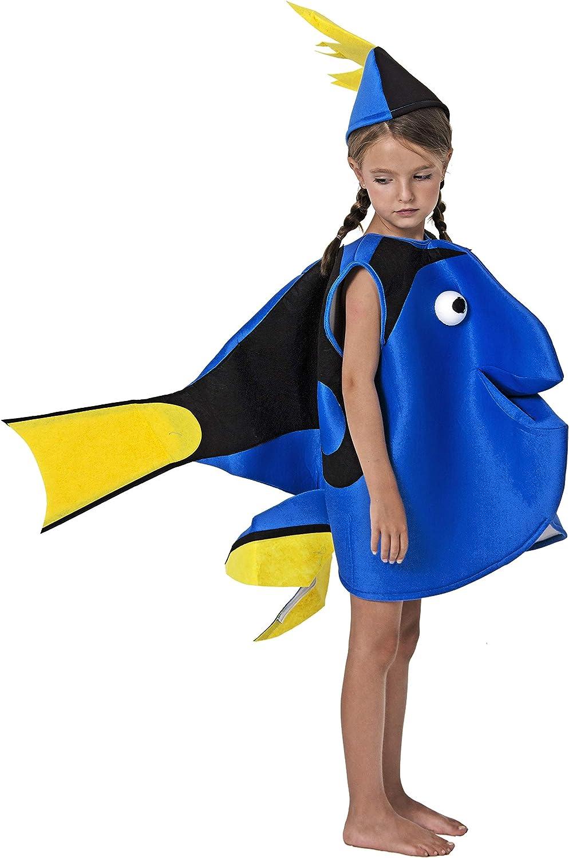 Gojoy Shop- Disfraz de Pez Azul para Niños y Niñas Carnaval ...
