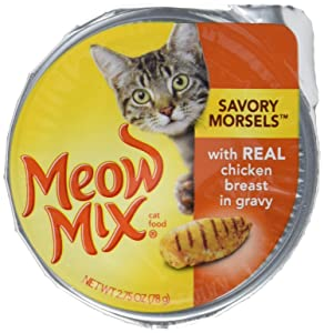 Meow Mix Savory Morsels Wet Cat Food, 2.75 Ounce Cups
