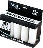 Axus Décor Lot de 10 manchons pour rouleaux miniatures en mousse Blanc