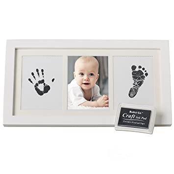 Beautiful Baby Handprint Kit Footprint Photo Frame For Newborn