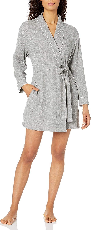 Amazon Brand - Mae Women's Belted Knit Waffle Robe
