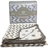 Muslin Blanket - 4 Layered 47x47 inches Breathable Baby Muslin Swaddle Blankets - Muslin Quilt - Swaddles Baby When Receiving - Extra Soft Toddler Blanket for boy or Girl - Bamboo Cotton 1 pc