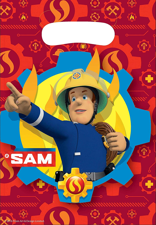 8 Pieces Loot Bags Fireman Sam