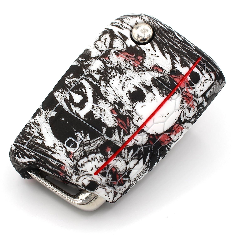 Llave M/óvil VB para 3/botones llave de coche silicona Cover/ /Finest de Folia Carcasa Funda para llaves .Blumenmuster