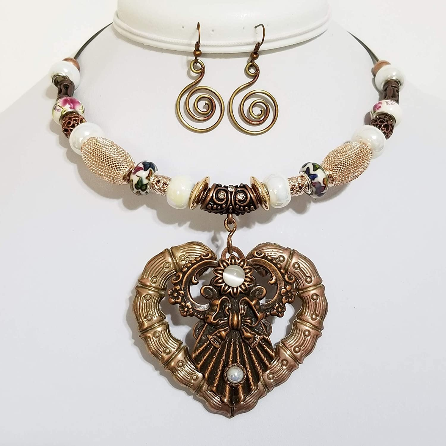 Heart Shaped Pendant Necklace One of a Kind Jewelry