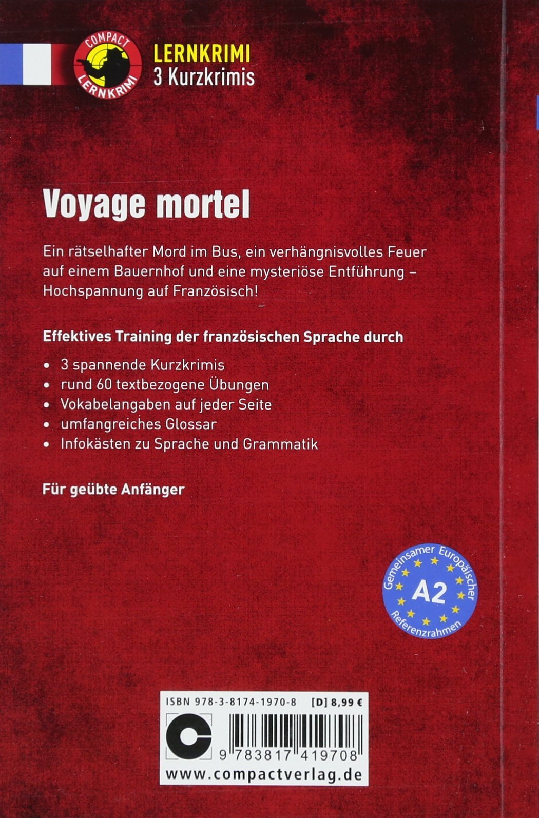Voyage Mortel Fanzösisch A2 Lernkrimi Kurzkrimis Amazonde Marc