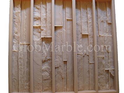 Amazon.com: Hormigón Chapa de moho de piedra moldes pared ...