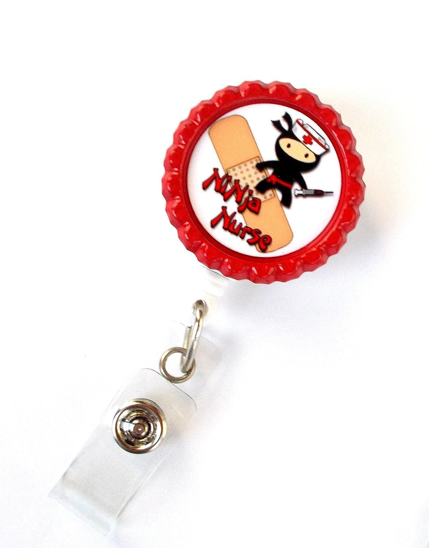 Amazon.com : Ninja Nurse - Nurse Badge Reel - Nursing Badge ...