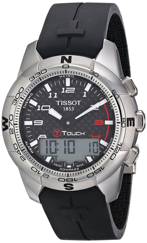 4f2fdd94bbf Amazon.com  Tissot Men s T0474204720700 T-Touch II Black Digital Multi  Function Watch  Tissot  Watches