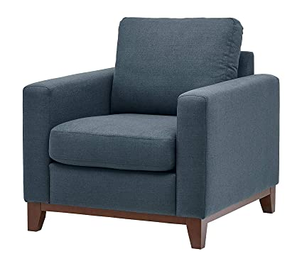 Amazon.com: Premium North End Wood Accent Living Room Arm Chair, 38 ...