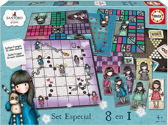 Educa Borrás - Gorjuss Set especial 8 en 1, juego de mesa (17291 ...