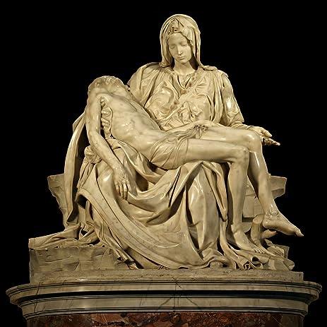 Michelangelo's Pieta Poster Art Photo Great Masterpieces of Sculpture  Posters 12x12