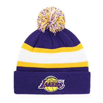 the best attitude f30cc 857e5 NBA Youth Los Angeles Lakers Rush Down OTS Bravo Cuff Knit Cap with Pom,  Purple, X-Large, Skullies   Beanies - Amazon Canada