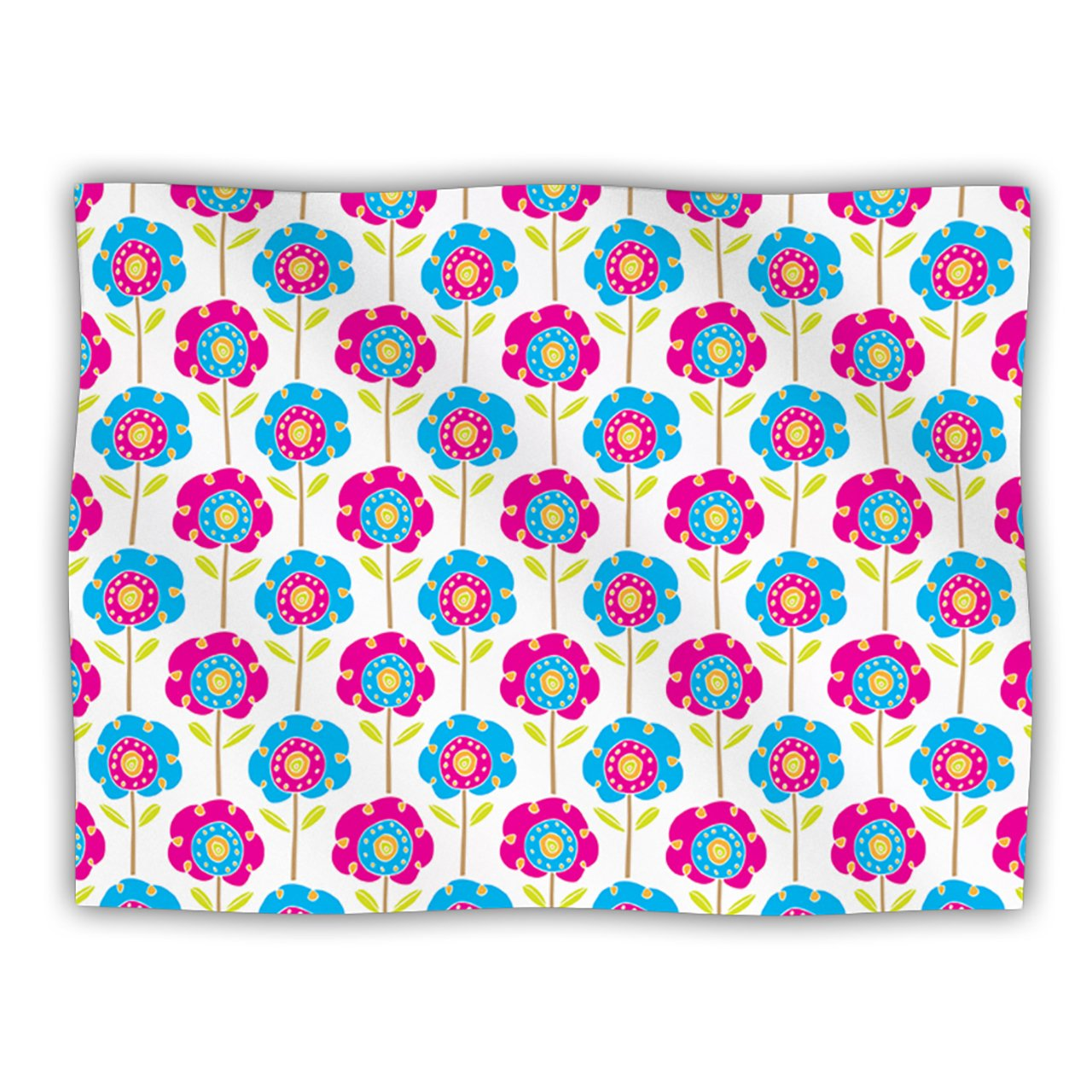 Kess InHouse Apple Kaur Designs Lolly Flowers bluee Pink Pet Dog Blanket, 40 by 30-Inch