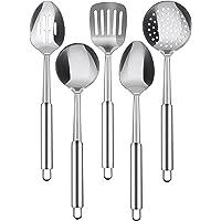 Utopia Kitchen Stainless Steel 5-Piece Cooking Spoon Set