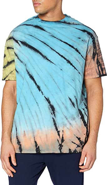Herren Damen Tie Dye T-Shirt Sommer fest Kurzarm Tie-Dye Unisex T-Shirt Top Tee